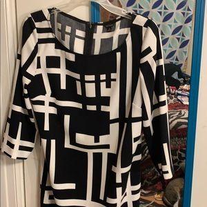 Black & White designed dress